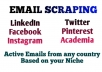 collect targeted emails from social media platforms for your business