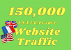 Provide you real 150,000+ USA,UK,FRANCE website traffic visitors from worldwide