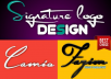 Design handwritten signature logo, photography or text logo