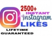 Add super instant 2,500+ Instagram Likes for post / photo safe and stable.
