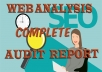provide complete website analysis SEO AUDIT REPORT