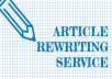 Manually rewrite a 500 words article
