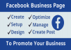 create facebook business page for your business