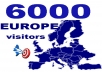 We will send  6000 Human real   visitors from EUROPA (germany/italy/UK/spain ...etc) to your webpage /shop/ Blog ,The visitors come   from social media, Blogs, websites, social pages,Forums  and others funnels. That's why it is 100% SAFE.    *  YOU WILL  RECIEVE    TRACKING LINK  ,   von  Cuttly  oder  isgd  * Delivery-time take until about 3-10 days  ,so faster as we can  !!! * please ask me if you want more days or more visits  * we send real visitors,we don't give any Guarantee for any action !!! * please inbox me if you have any   extra wishes  * videos ,Shortened URLs from Adfly  , Direct Downloads URLs, and adults   are  not allowed    This Service is good for :  * Boost SERP and Alexa Rank  * Improve your ranking by continuous visitors