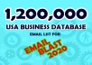 give USA business database 1,200,000 bulk email, phone, email blast 2020