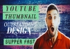 design amazing youtube thumbnail in 2 hours