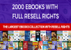 give 2000 E-Books Bundle with Resell Rights