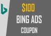 provide you Bing $100 Nospend Coupon