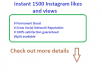 give Instant 1500 High Quality Real Photo Post Video likes