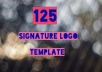 Provide typography Signature Logo Template