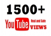 give 2500 YouTube Video Views , HQ Retention, Safe| Lifetime guarantee