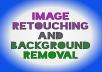 Do image retouching and background removal