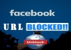 Unblock your website url within 12 hours