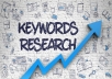 I'm The Keyword Research Expert You Need Competition in the online marketing game just got tougher.  With the new search engine algorithm software in use, the old school SEO techniques just don't work anymore.  To beat your competitors calls for expertise, cunning, and dedicated professionalism to best take advantage to get your company's services and brand name to the top of the search engine listings.  That being said, keyword research is one of the most vital tools and services you'll need.  I can provide that service on a pro level as I've got years of experience.  I know what to do, what to look for, and will examine your company's information and discuss with you one on one, your goals.  From that diagnostic, I dig in deep and do my job.  Dedication, professionalism, and honesty.  Please Note:   1.I will do 1 product research per gig order. 2.Please contact me before order for more then 5 products. Delivery time will be change as per order quantity.  https://gigbucks.com/manage