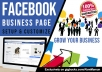 create and develop Facebook BUSINESS Page