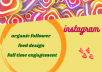 increase organic instagram followers and design post