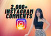 Provide Fast 2000+ Instagram random comments