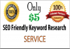 do targeted keyword research and SEO report analysis