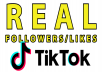 I will give you real , fast and high quality Tiktok services within the time frame.