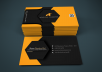 create amazing business card or design attractive social media banner within 24 hours