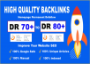 give 100 DR 90 to 99 high quality authority 301 seo dofollow backlinks link building