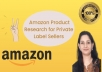do amazon fba product research for private label sellers