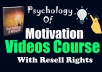 WELCOME TO MY PSYCHOLOGY OF MOTIVATION GIG  ✅ PLEASE CONTACT ME BEFORE PLACING THE ORDER TO AVOID CANCELATION ✅  if you want to set up your motivation in the Right way. this is a perfect video course and guide for you.  this course helps you how you can live a much Attractive and determined and purposeful life and learn how to get motivated on command.  ✅ What do I provide for you?  Course Guide (PDF File): 29 Pages Video course: 11 videos (mp4)  Duration of 1 Hour (approximate ) etc.  ✅ Why you choose me over any others?  Long time Relationship. Instant delivery & 24/7 Hours support Very Good Communication. Good customer care. etc.  ✅ if You now Not ready to order yet?  make this gig favorite and order anytime.  ✅ Prices will be increased after My profile level up. So don't miss the opportunity.  Please don't forget to check my other gigs.  Feel Free to Contact Me.