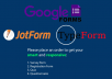 I will design and create your Online Form, Quiz, Survey, Poll or questionnaire about anything using Google Forms, TypeForm or Jot-form.    I will share the online survey with you once it's created. This will enable you to share it with the target audience.    Features of service:   ✓ Responses in structured customize PDF, spreadsheet. ✓ Custom coded Jotform using CSS ✓ Individual responds view and print option. ✓ Share forms with an email a link or embed in website. ✓ Display a thank you message to the form user.  ✓ Send respondent customized e-mails. ✓ Using Zapier to connect with 3rd party apps. ✓calculations.    The online survey will include:  Any questions that you want to be included Multiple-choice questions Open-ended questions Basic logic questions   Why this gig:  Fast Delivery - can be less than 1 hour 24/7 reliable customer support 100% Satisfaction guarantee Unlimited revisions  Fast delivery   You can ping me anytime for FREE in case of any query!