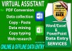 do DATA ENTRY, COPY PASTE, PDF edit, WEB RESEARCH and EXCEL data entry