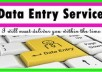 do fastest data entry & web research