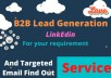do b2b lead generation in linkedin
