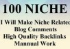do 100 high quality niche relevant SEO backlinks service