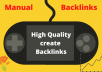 provide high quality manual backlinks