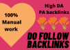 create manual high PA DA web 2.0 backlinks