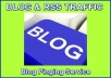 ping your blog once every Sunday for one month