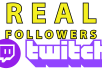 Give you +1000 twitch followers/Likes [✓Refill guaranteed with 7 days]