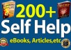 give personal development self help attractive eBooks