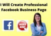 do facebookbusiness page creation, setup, and management