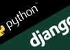 create a single page form website with database support in django