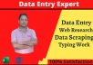 do data entry, web scraping, web research, and typing work