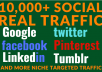 send Real 10,000 + Web Traffic WORLDWIDE from Search Engine and Social Media