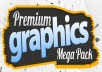 give you Premium Graphics Megapack