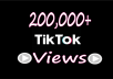 Provide FAST 200,000 TikTok Videos Views
