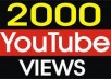 provide 2,000 Youtube Videos Views