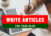 Write articles for your blog and websites