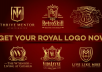 create luxury royal logo for your company