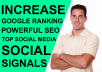 add 500 High Quality SEO Social Signals for website Google Ranking