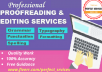 do professional proofreading and editing in 24hr