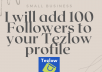 Add 100 Followers to your Tezlow profile