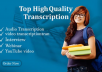 do unlimited audio transcribe and video transcription within short time